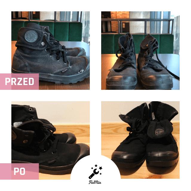 Usługi szewskie - Renowacja obuwia - Przykład Przed i Po - odnowienie butów